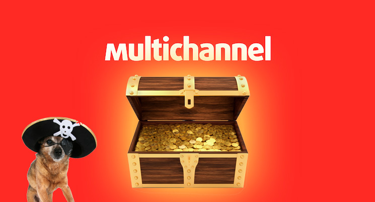 Multichannel's seed round did not actually arrive in a treasure chest, sadly.