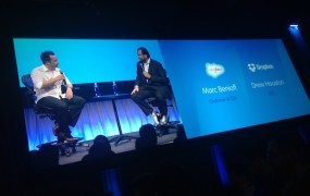 Drew Houston interviewing Marc Benioff at Dreamforce