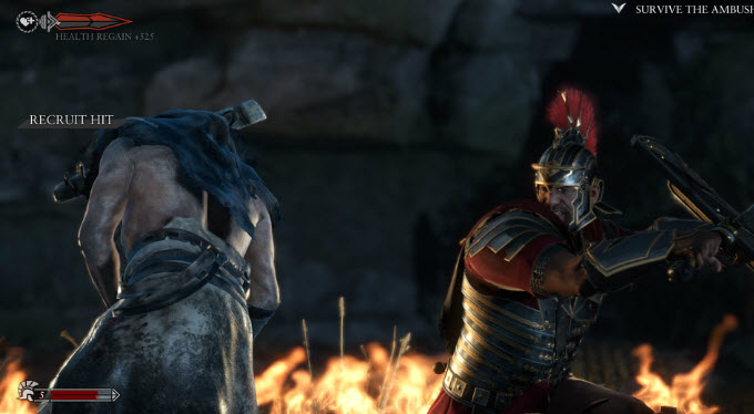 Ryse hand-to-hand battle