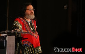 In his second talk at DevBeat, Stallman gave a brand-new speech inspired by the NSA. Nothing but warm words, we're sure.  ;)