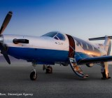 Surf Air flies Pilatus PC-12 turboprop aircraft.