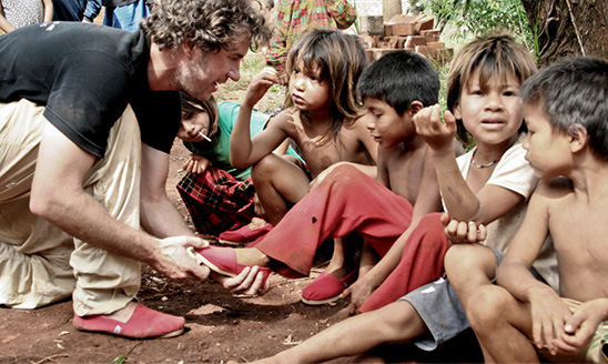 TOMS founder Blake Mycoskie in Argentina.