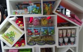Angry Birds merchandise.