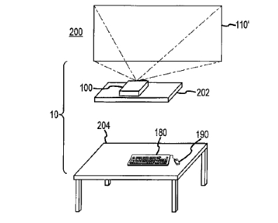 "A patent illustration from Apple's so-called ""desk-free"" computer"