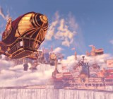 The beautiful world of Columbia from BioShock Infinite.
