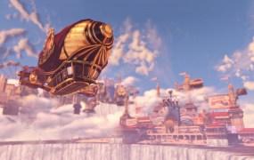 The beautiful world of Columbia from BioShock Infinite.