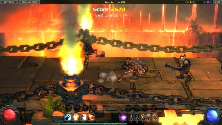 nWay's Facebook and Ouya brawler Chronoblade in action.