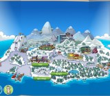 You can tap on any part of the virtual island to visit them in Club Penguin for the iPad.