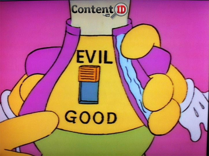"Here's your problem right here -- Content ID is set to ""evil."""