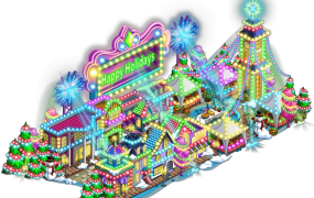 The Holiday Lights expansion for Zynga's FarmVille.