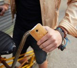 Moto X with bamboo wood rear case