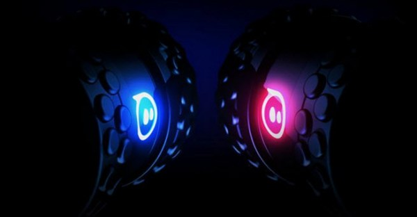 The Orbotix Sphero 2B has interchangeable wheels.