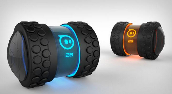 Orbotix's new Sphero 2B is like a rolling dumbbell. But it's a smart, robotic one.