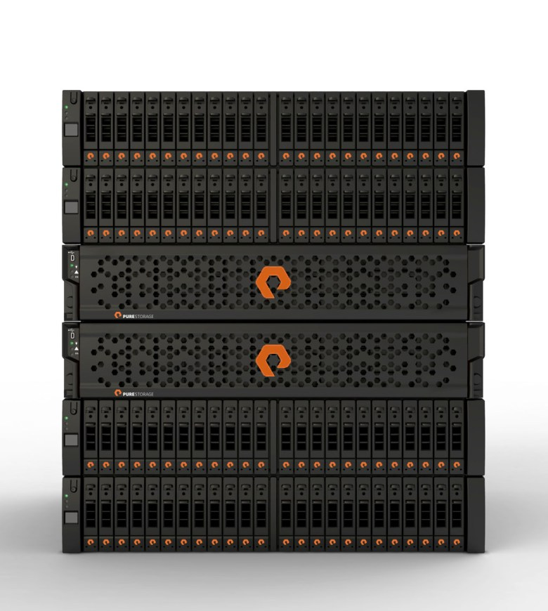 Pure Storage's flash storage hardware.