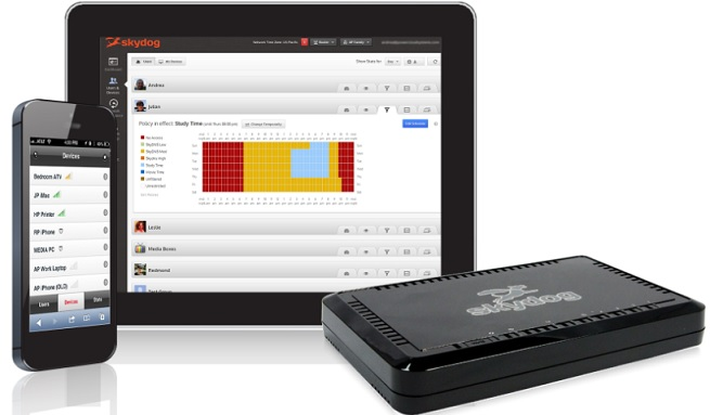 PowerCloud's Skydog system lets parents monitor internet usage in detail.