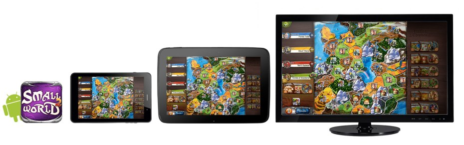 Small World 2 running on Android and PC.