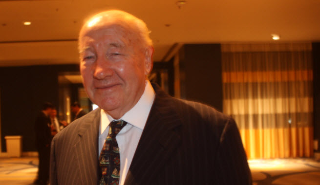 Wilf Corrigan, founder of LSI, at the Semiconductor Industry Association dinner this fall.