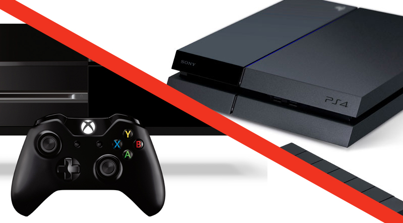 The Microsoft Xbox One and the Sony PlayStation 4.