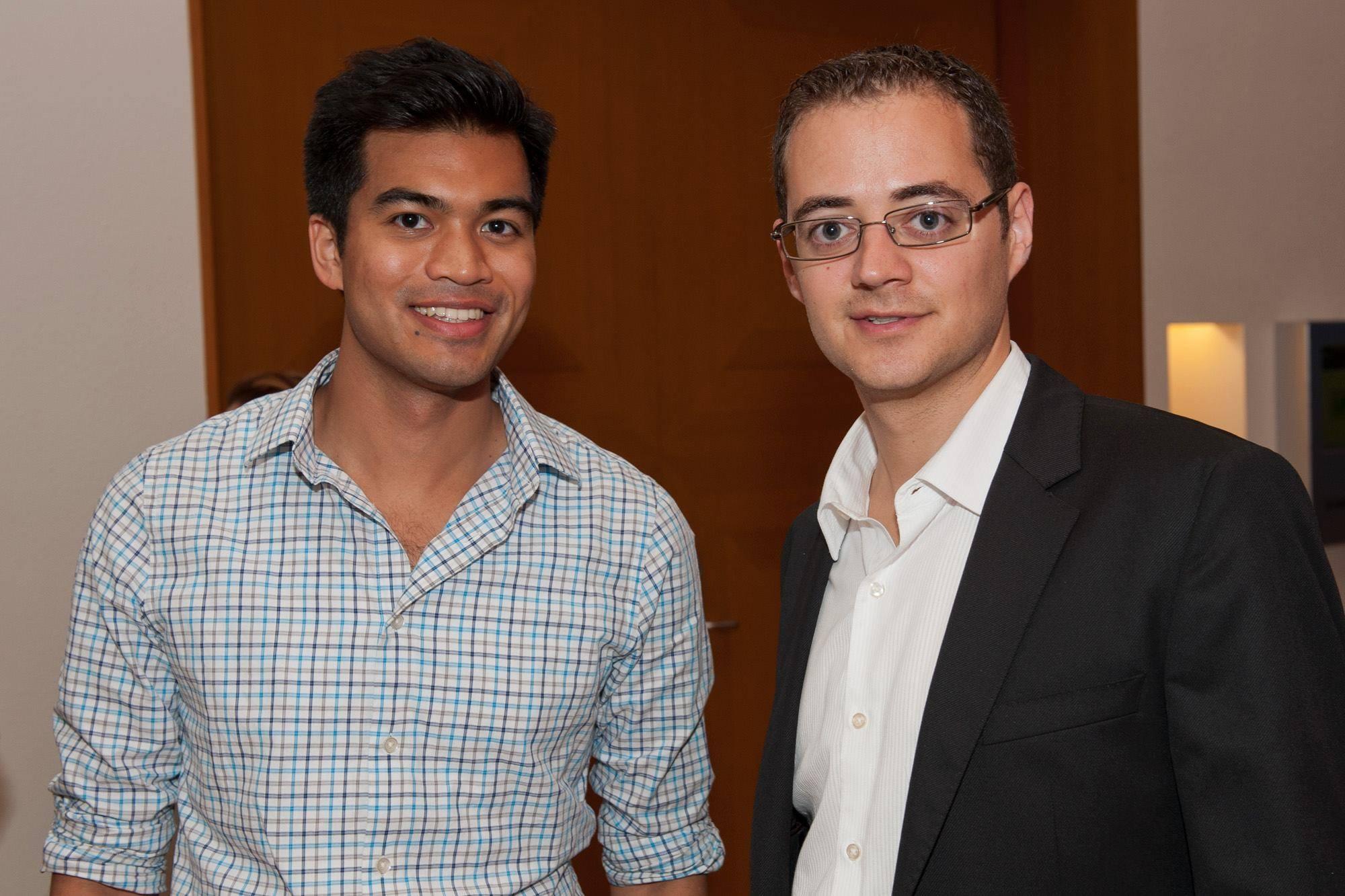 FundersClub cofounders Alex Mittal and Boris Silver.