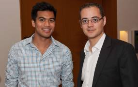 FundersClub cofounders Alex Mittal and Boris Silver.