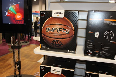 The 94Fifty smart basketball has nine sensors to help you shoot better.