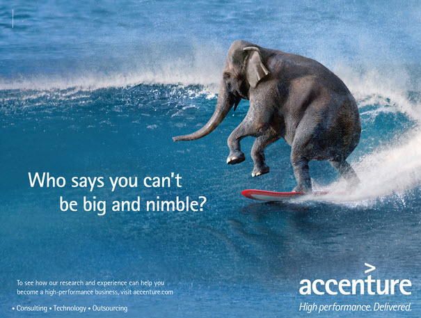 Accenture ad on big and nimble