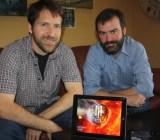 Alex Seropian and Tim Harris of Industrial Toys show off Midnight Star.