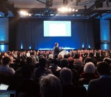 Benioff talks up Salesforce1 at the Hilton Midtown in Manhattan