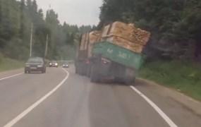 A screenshot from a car crash video.