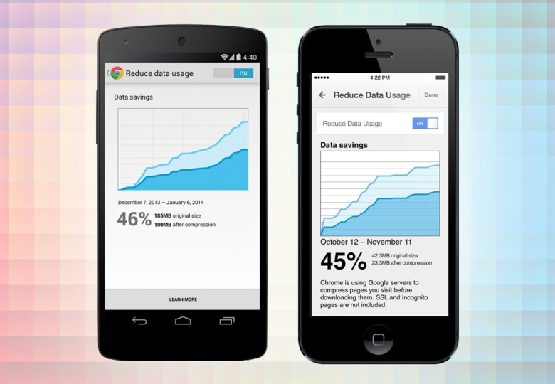 Chrome mobile data compression promises big data reductions.