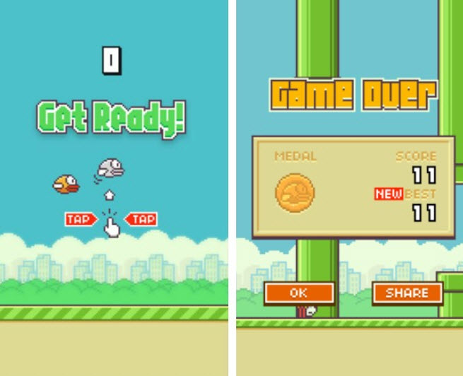 Flappy Bird isn't in mobile app stores any more because it's too addictive, says its creator.
