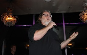Valve CEO Gabe Newell at the 2014 International CES.