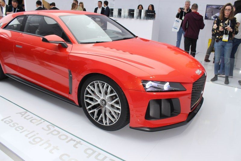 This Audi concept car had blue laser headlights #CES2014
