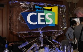 The traditional ice sculpture at CES Unveiled