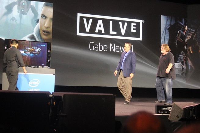 Intel's Brian Krzanich and Valve's Gabe Newell