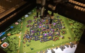 Lego Mindstorms EV3 robot plays Clash of Clans