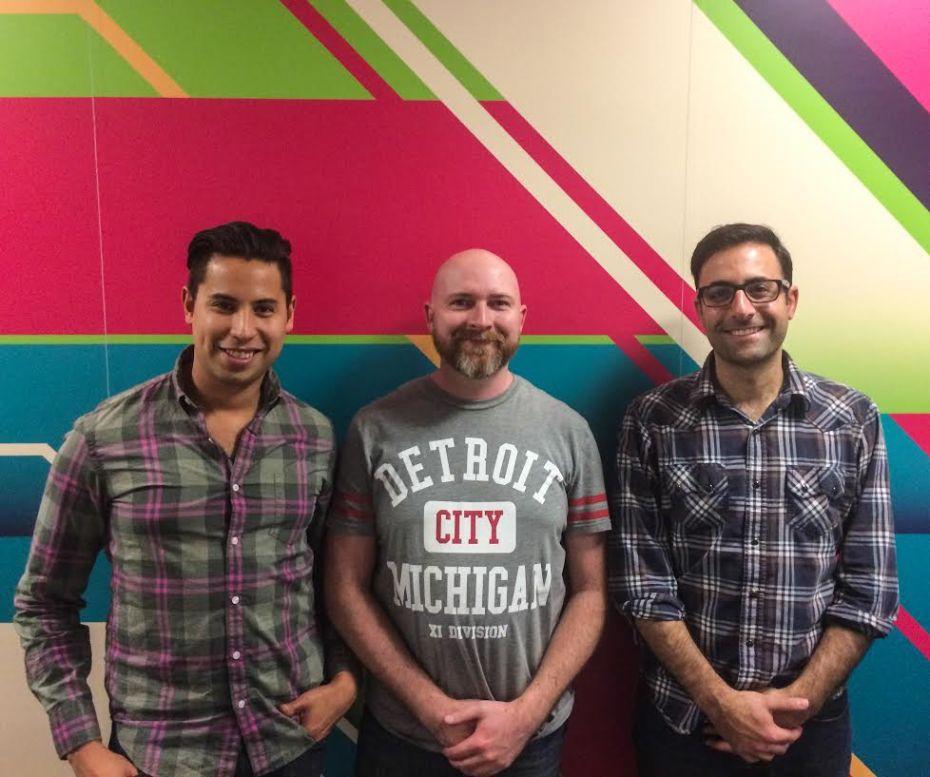 LuckyPennie cofounders John Wolanin, Joe Landon, and Johnathan Lane.