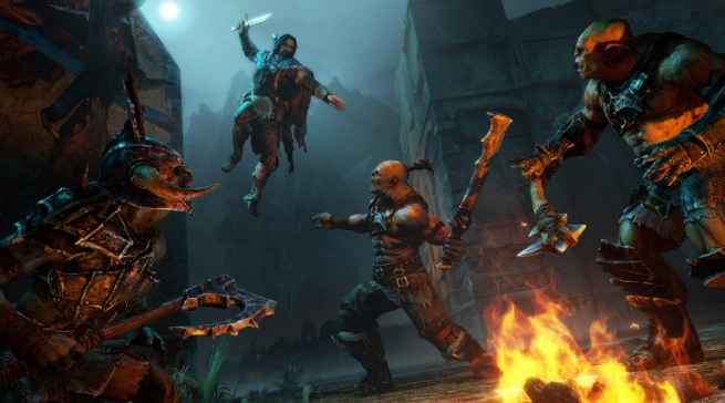 Death from above in Shadow of Mordor.