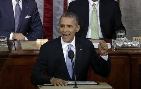 President Obama during his State of the Union address Tuesday night.