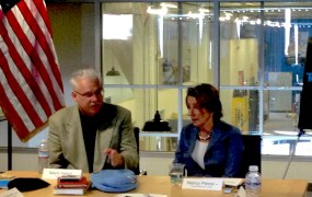 TechShop CEO Mark Hatch and Nancy Pelosi