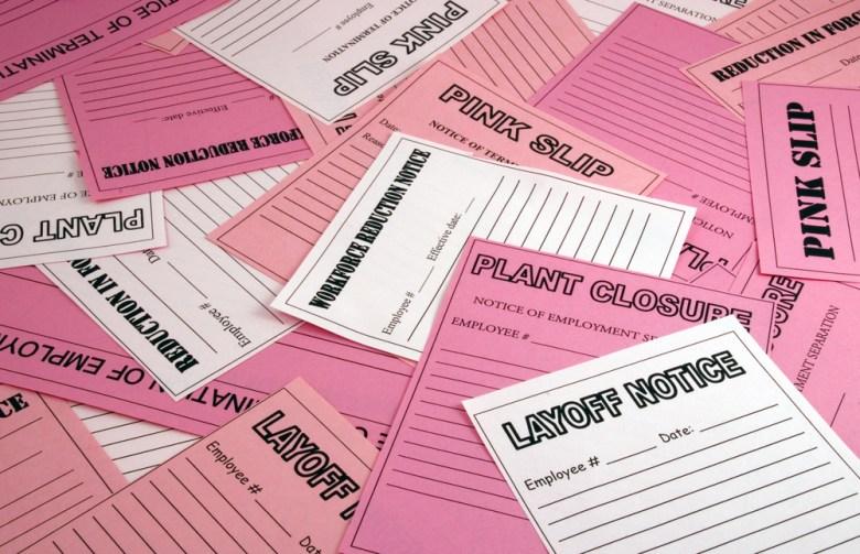 pink slips layoffs shutterstock Eric Von Seggern