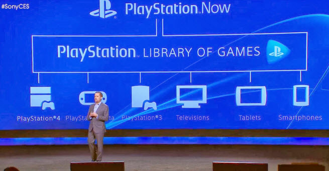 Sony's PlayStation Now service.
