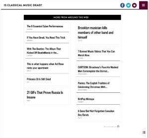 Recommendation widget, Slate Outbrain