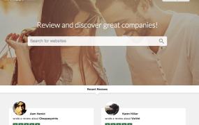 TrustPilot's homepage