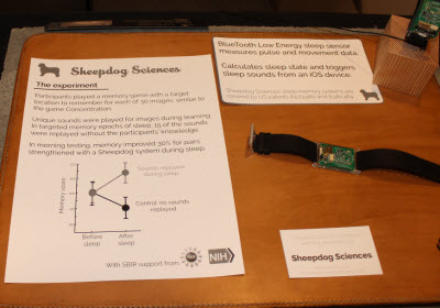 Sheepdog Sciences makes a wristband that will detect whether you are sleeping.
