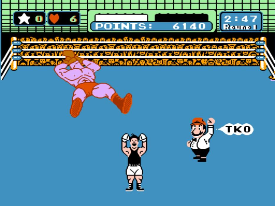 Mike Tyson's Punch-Out!! for the NES is no match for a man wearing a blindfold.