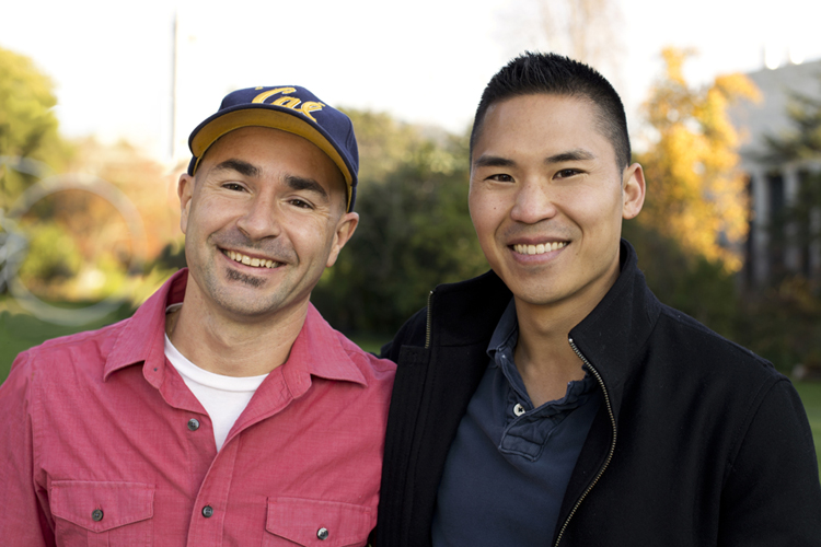 Exogen cofounders Sylvain Costes and Jonathan Tang