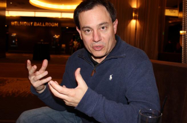 Tony Tamasi of Nvidia talks with his hands.