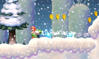 Yoshi's New Island ice blast