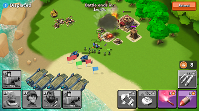 Boom Beach invading force